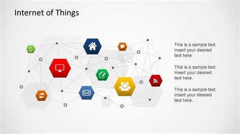 internet of things powerpoint shapes slidemodel