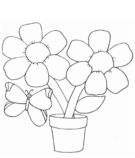 Simple Flower Coloring Pages simple flower coloring pages coloring home