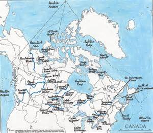 bodies of water in canada map