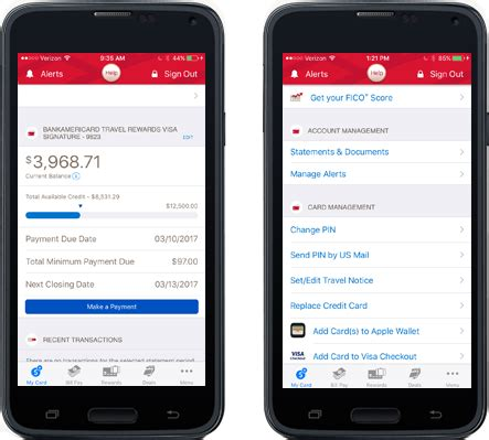mobile app banking mobile banking app from bank of america