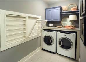 laundry room built in drying racks for the home