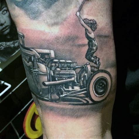 drag racing tattoos 70 rod designs for automobile aficionado