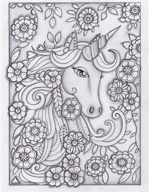 free printable coloring pages for adults unicorns unicorn greyscale drawing unedited coloring pages