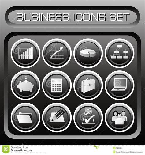 vector business icons set royalty free stock photos image 1095468 vector business icons set stock vector illustration of black 1095468