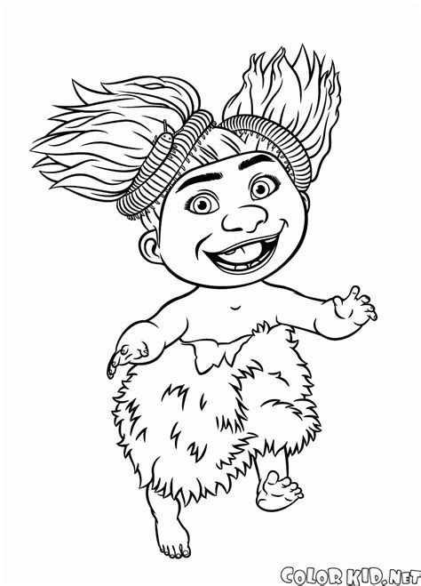 coloring page granny croods
