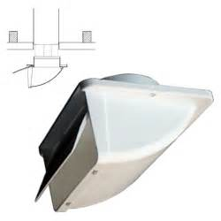 white soffit vent for 4 quot ducting with backdraft der