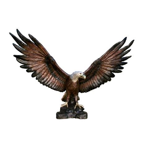 The Bronze Eagle by Bronze Large Eagle Sculpture Metropolitan Galleries Inc