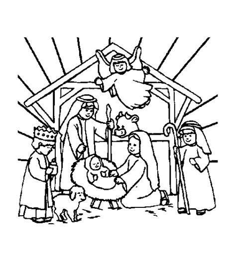 christian christmas coloring pages coloring page