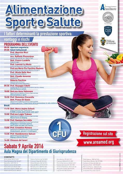 alimentazione sport e salute universit 224 di foggia