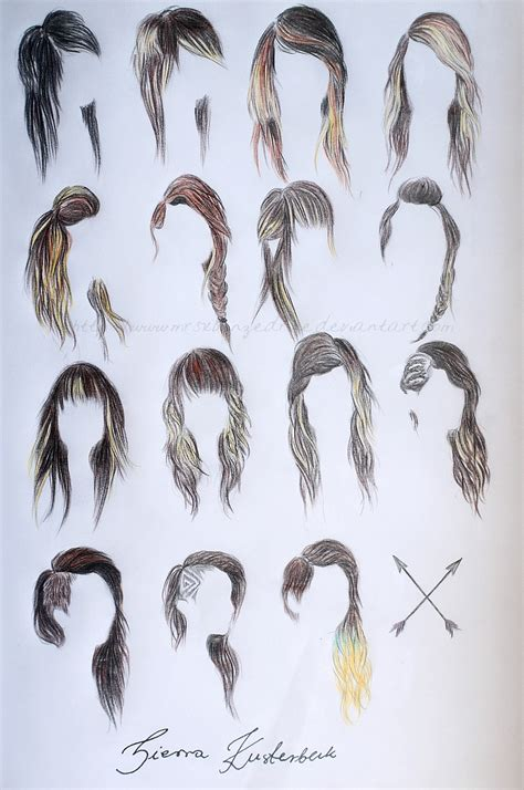 hairstyles for long hair drawing sierra s hairstyles by mrsxbenzedrine on deviantart
