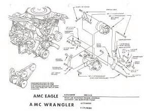 jeep cj yj series 4 2 liter engine bracket diagram