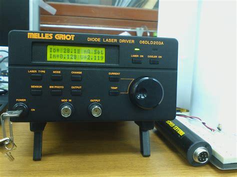 test diode laser a human diode laser driver 06dld203a test