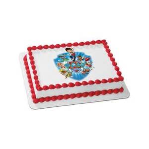 paw patrol quarter sheet edible cake topper each