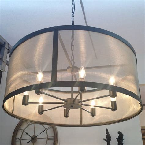 Black Circle Chandelier Riveted Mesh Chandelier By Cowshed Interiors