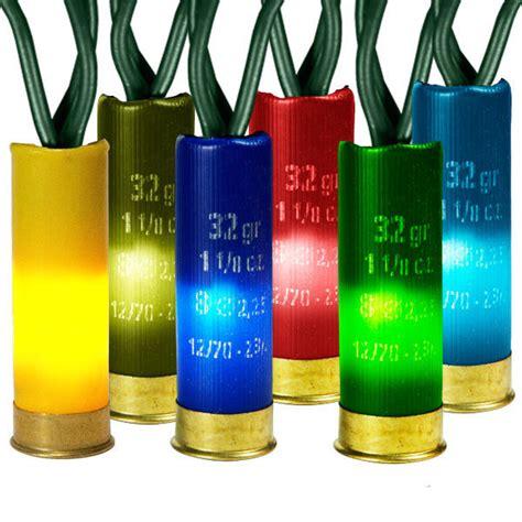 shotgun shell string lights 50 multi color shotgun shell mini lights 14 ft