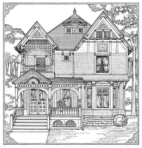 coloring house victorian homes coloring pages for adults how to draw