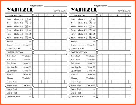 Resume Sample Kfc by 12 13 Yatzee Score Card Kfcresume