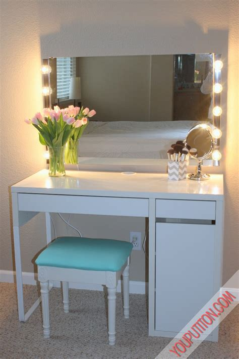 white desk with mirror and lights small vanity without mirror home design plan
