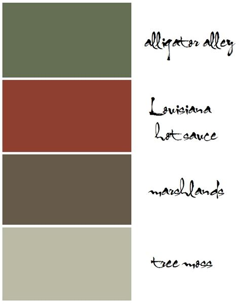 color palette places in the home