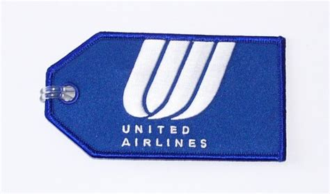 luggage united airlines united airlines blue embroidered luggage tag flight attendant shop