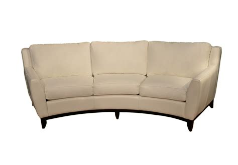 curved leather couch curved sofas urbancabin