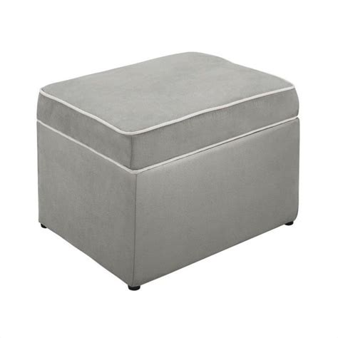 Gray Storage Ottoman Abby Storage Ottoman In Gray Da1404so Mg