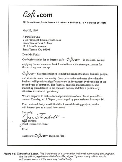 Transmittal Letter For A Business Sle Introductions