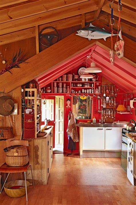 Cabin Food Ideas by Cabin Kitchen With Clever Storage Coloured Kitchen