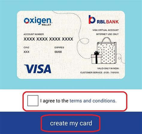 make a visa card how to create oxigen wallet credit card