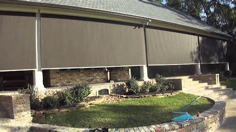 patio screen houston motorized patio shades houston
