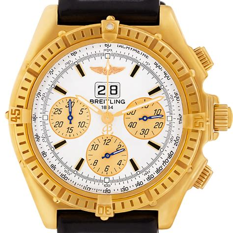 breitling crosswind k44355 yellow gold world s best