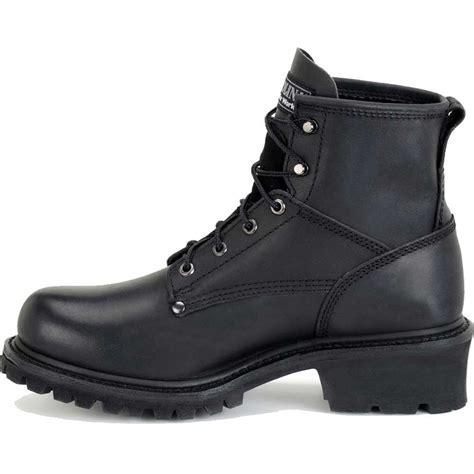 carolina 6 inch black logger boot ca833