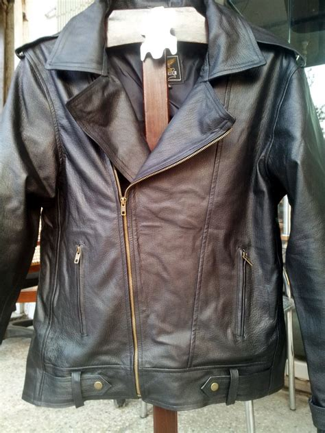 Handmade Leather Jacket - handmade new brando style slim fit black leather