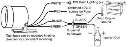 tachometer installation autogage tach install