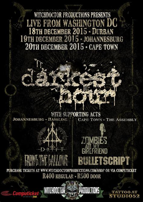 darkest hour december 22 tour information darkest hour 20th anniversary tour