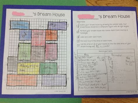 home design math project house composite figures area perimeter school houses and house