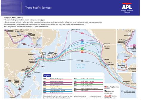 asia north america ocean shipping routes - Boat Shipping Map