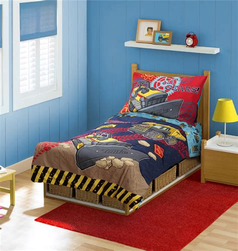 tonka toddler bed 4pc tonka trucks construction toddler bedding set