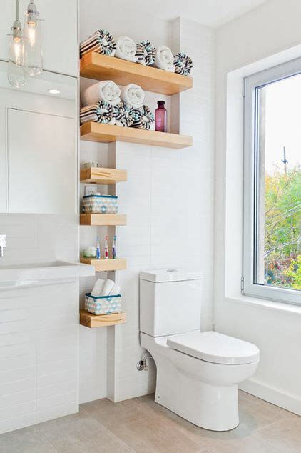 bathroom storage ideas pinterest custom shelves for extra storage in a small bathroom
