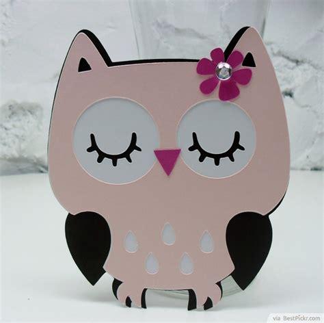 owl templates for baby shower unique handmade owl baby girl shower invitation http