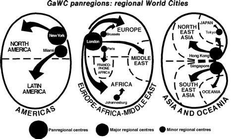 gawc world cities map gawc research bulletin 6