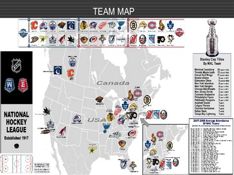 canadian hockey map nhl powerpoint