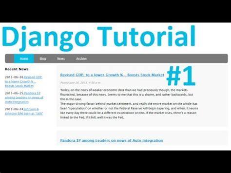 Tutorial Django | tutorial django django tutorial web development with