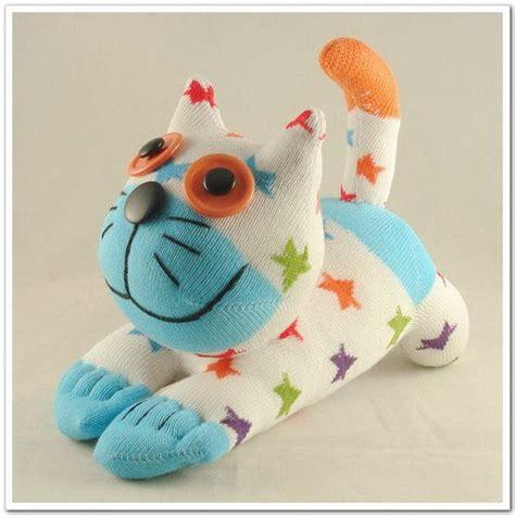 Handmade Toddler Toys - handmade sock cat stuffed animal doll baby toys