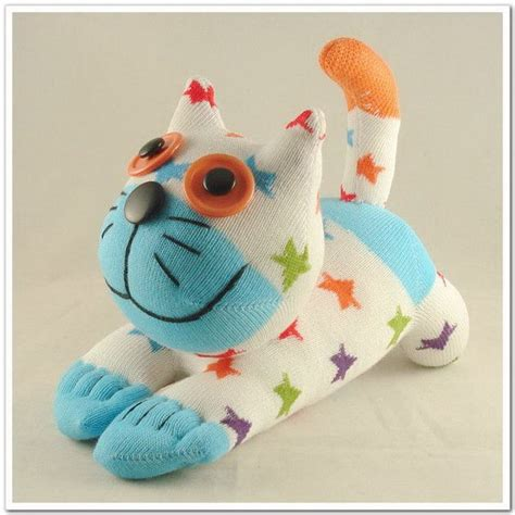handmade sock cat stuffed animal doll baby toys
