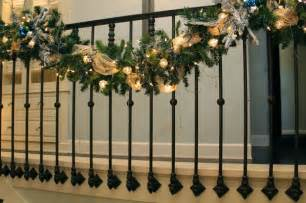 my stair garland transitional staircase