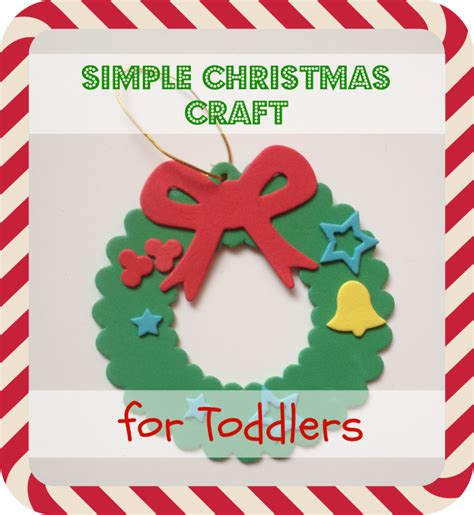 simple christmas craft for toddlers
