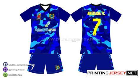 cara desain baju futsal online pembuatan kaos futsal angkasa fc printing jersey