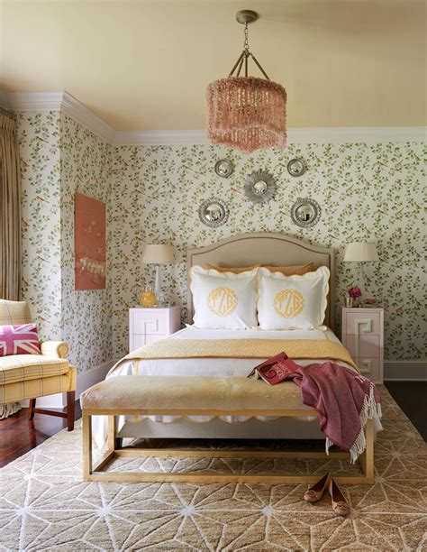 Innovative leontine linens look charlotte traditional bedroom decorating ideas with brass bench