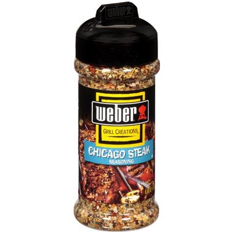 weber grill creations chicago steak seasoning 6 oz walmart com